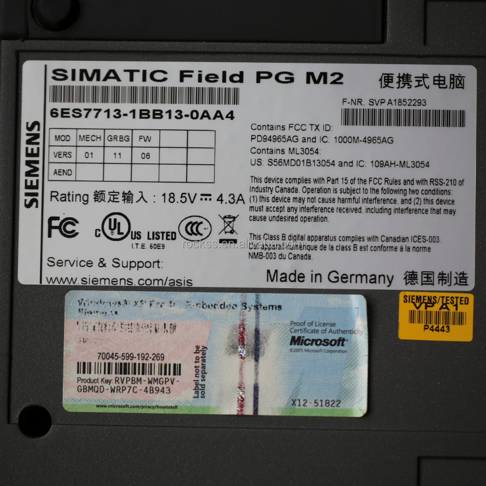 PG M2 6ES7713-1BB13-0AA4 SIEMENS SIMATIC FIELD Programmiergerat Win 7 Used in good condition
