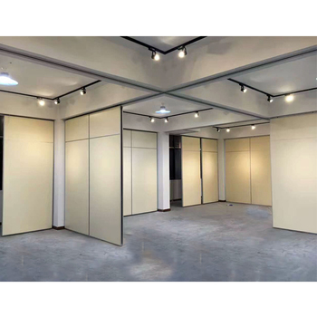 Hotel Wooden Hanging Partition Wall Operable Room Partition Divider System