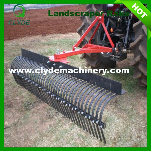 Farm machinery 3 point hitch land leveler rake