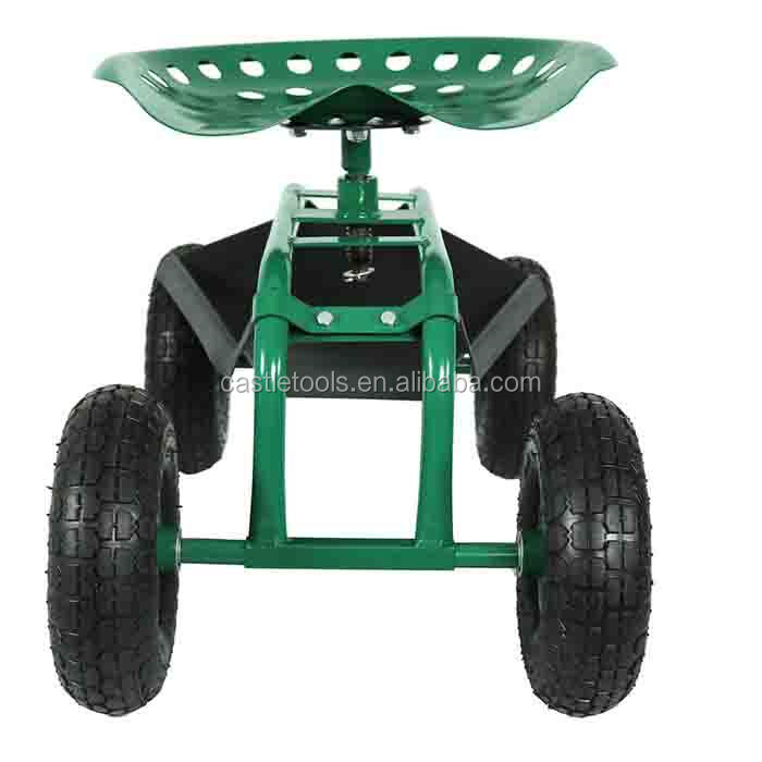 Wheeled Garden Seat Hopper Gardening Work Cart Tool Storage Rolling Stool  Wagon   Buy Wheeled Garden Seat,Hopper Gardening Work Cart Tool,Storage ...