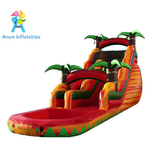 Beautiful Marble Color 18Ft Tropical Fiesta Breeze Inflatable Volcano Wet and Dry slide for Adult and Kids