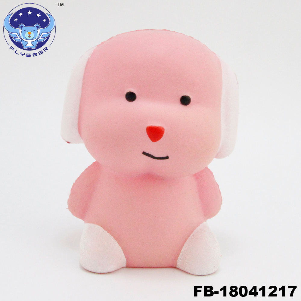 Hot sale kawaii Cartoon robot dog squeezed animal toy soft solw rising kid toys