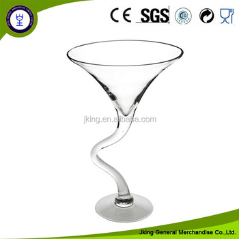Clear Twist Martini Glass Vase Buy Martini Glass Vaseclear