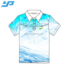 Wholesale collar neck plain t shirt , custom sublimation blank t shirt printing