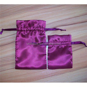silk jewelry pouches/small nylon drawstring bags wholesale