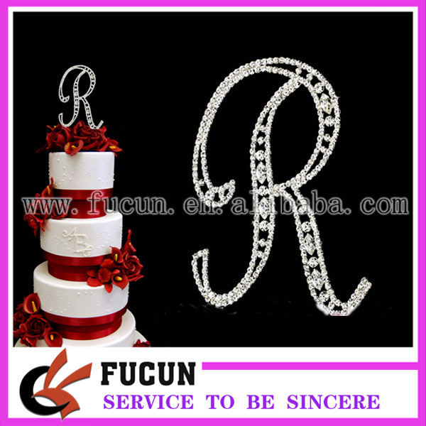 Rhinestone Monogram Cake Topper Wholesale