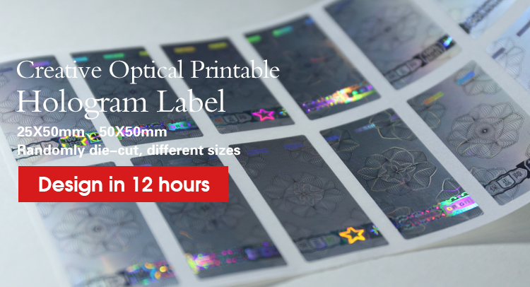 Custom Printable Hologram Tamper Proof Security Labels