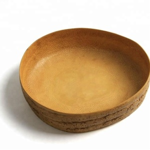 Natural Carved Bamboo Wood Root Bowl