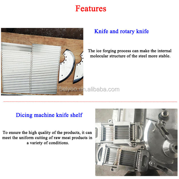 High Efficiency fresh fish meat dicer Good diced chicken cube cutting machines with good quality