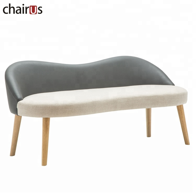 Living Room Design Wooden Frame Cheap Accent Upholstered Hot Sale Two Seat Leisure Chaise Lounge Sofa