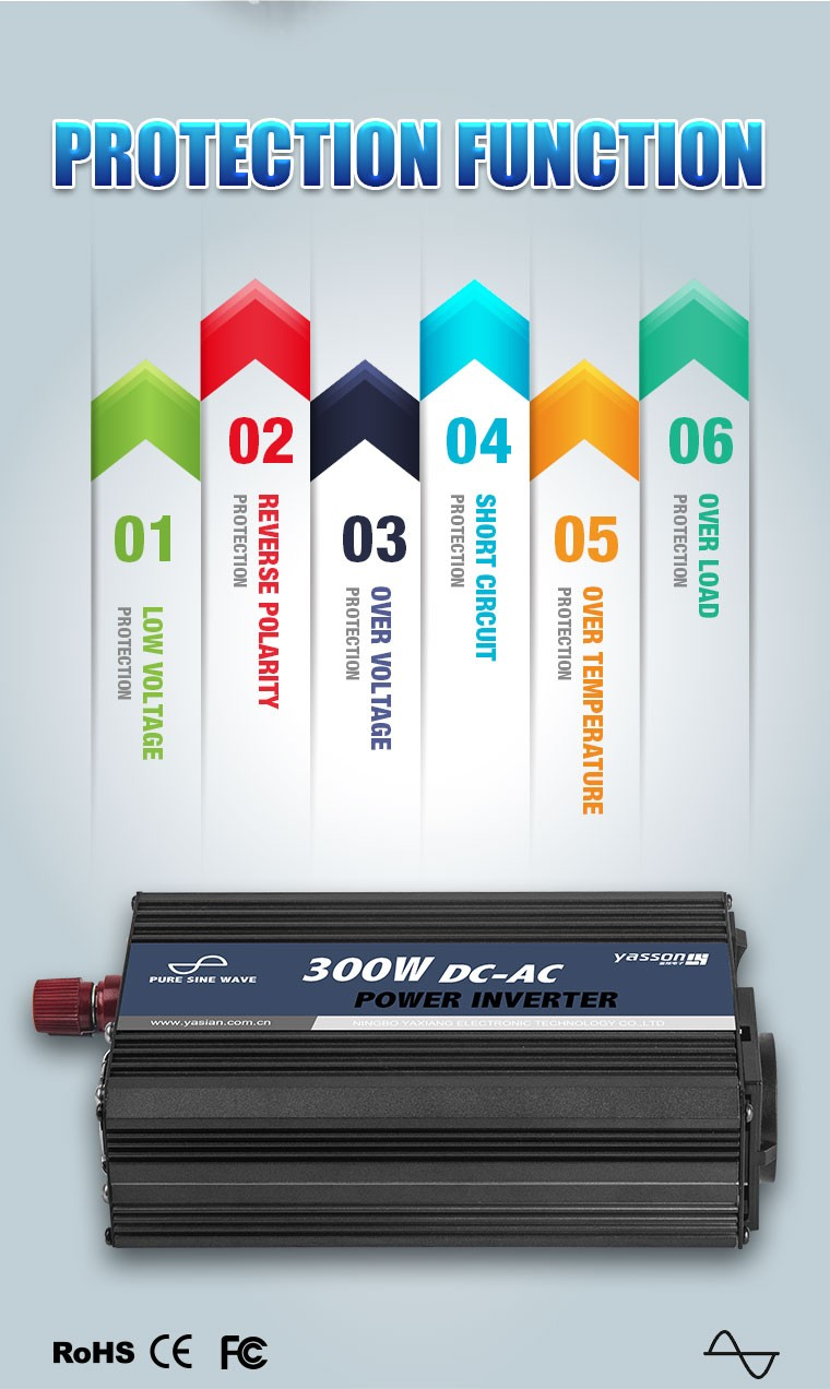 300w Power Inverter Dc 12v Ac 220v Circuit Diagram Car Battery And Low Voltage Protection Short Protectionin Charger