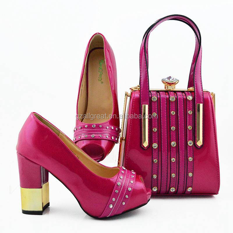 AB8579 women high heels sandals and purses bag set  italian women shoes and bag to match