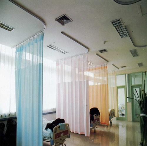 Hospital Screen Curtain With Ceiling Mounted Aluminum Curtain ...