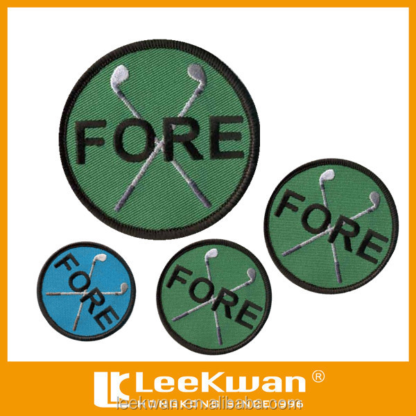 Eco-friendly Feature Of Golf Fore Design Embroidery Badge/patch ...