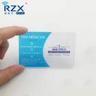 Nice design plastic frosted transparent clear business visiting card