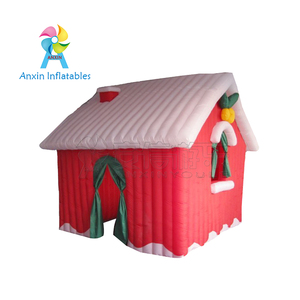 13ft New Merry Xmas Inflatable santa's grotto house with factory lower price