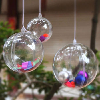 Cheap Clear Plastic Favor Candy Crafts Ornaments Christmas Ball