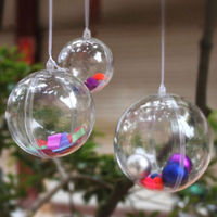 Cheap Clear Plastic Fillable Ball Ornaments Xmas Favor Candy Crafts