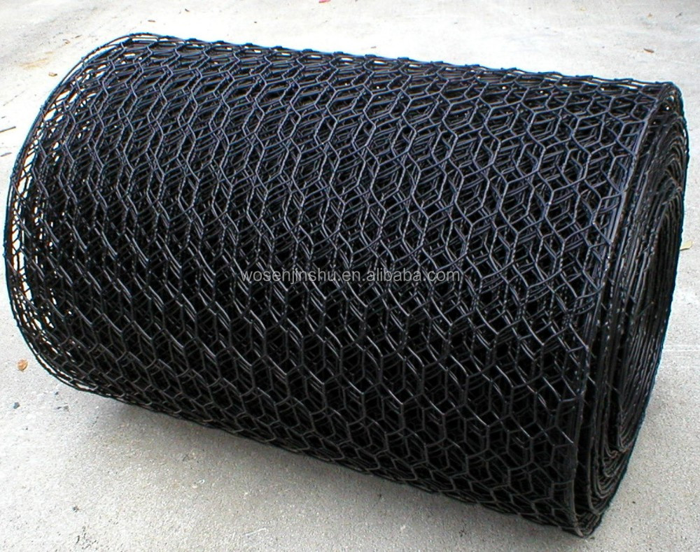 16 Gauge Black Hex Netting Vinyl Coated Fish Trap Wire