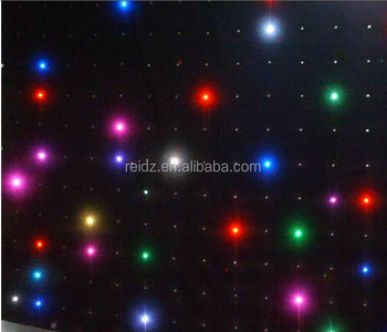 Holiday Lighting Fireproof Cloth Backdrop Led Star Effect Christmas Outdoor  Curtain Lights