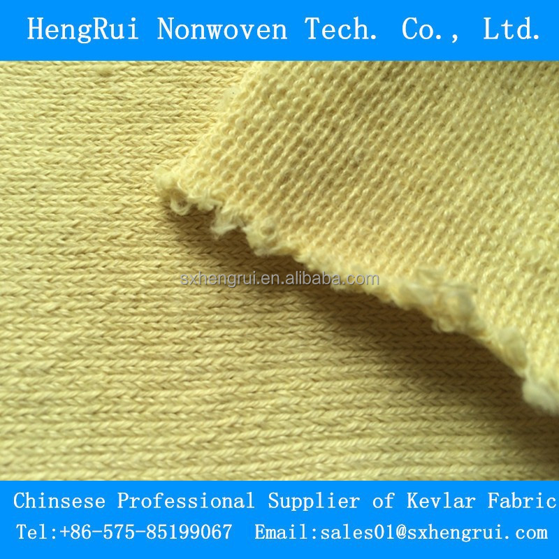 Heavy weight para aramid lookpack protective fabric for glove