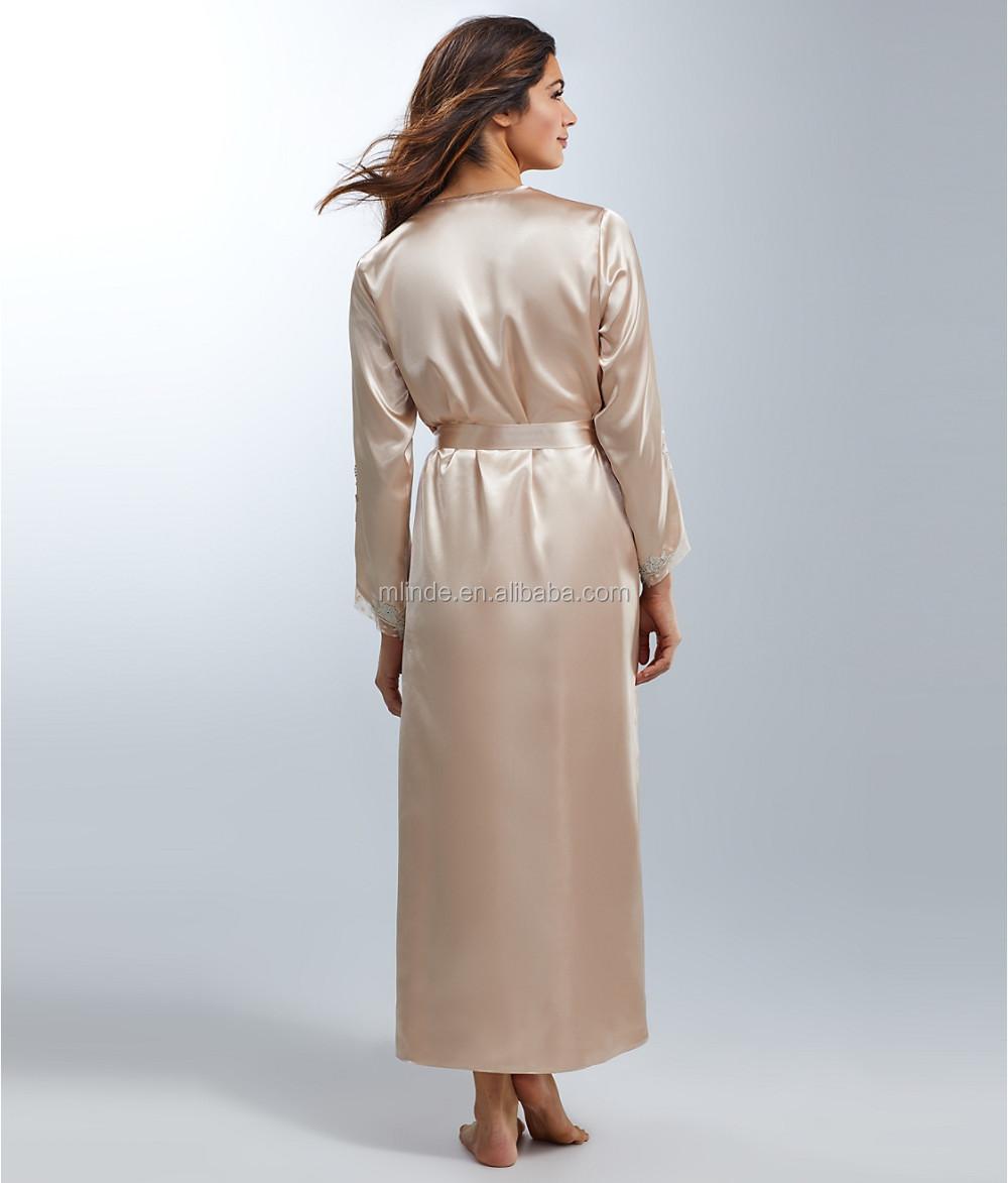 Cheap Robe for Elegant Women Fashion Stain Long Sleeve Robes Pajamas  Sleepwear Long Bathrobes Pajamad Pyjamas Online Shopping e916f6353