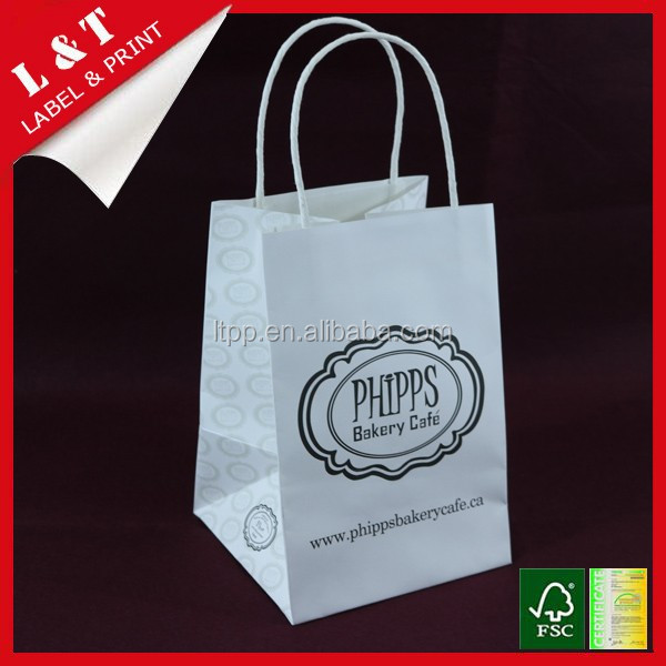 Attractive cosmetic paper gift shopping bag