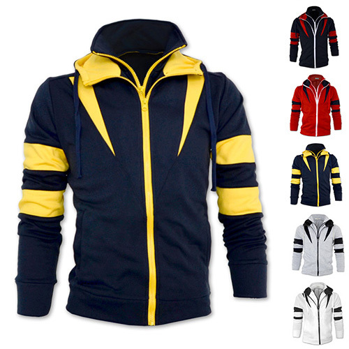 DropShipping!2015 New Fashion Autumn Patchwork Hooded Men's Jackets,Warm Casual Slim Fit Style for Men's coats,Men's Winter Coat