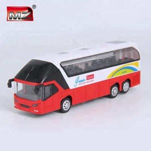 1/32 alloy metal luxury music 6PCS decorate toy diecast bus model for kids