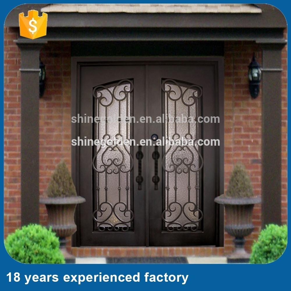 am ricain style rustique porte d 39 entr e m tallique pour villa buy porte d 39 entr e m tallique. Black Bedroom Furniture Sets. Home Design Ideas