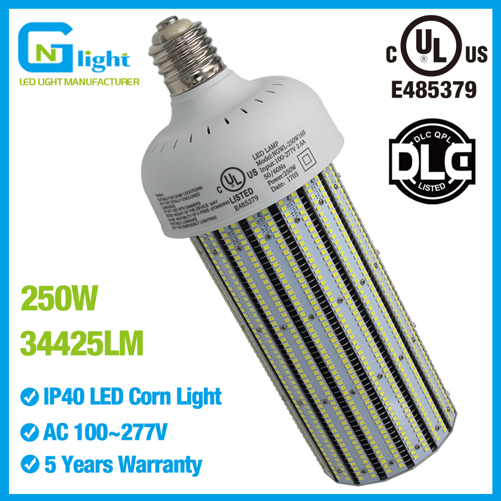 1000W Metal Halide Replacement 250W Led Corn Light Bulb UL DLC approved Used in High Mast Luminaries Sports Court Lighting