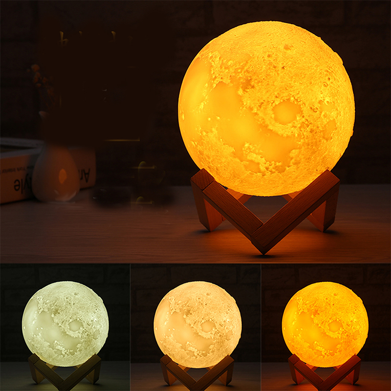 gift items for 2018 3d led night lamp battery operated night light moon lamp luna light charging 3D moon lamp for sale