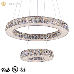 Stairway Flush Mount Multi Color Circular Crystal Flat Raindrop Chandelier