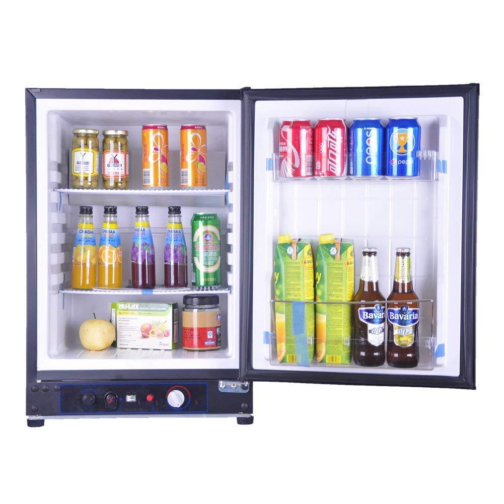 Smad Compact Gas-powered Refrigerator Mini Fridge Adjustable Temperature Control, 2.1 cu.ft.