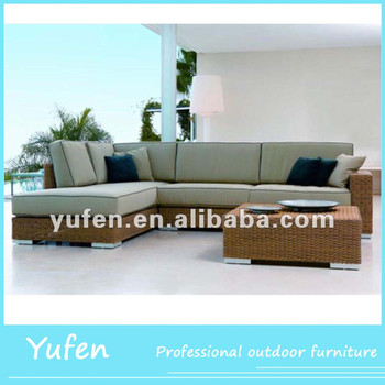 Cast Aluminum Rattan Used Sectional Sofa