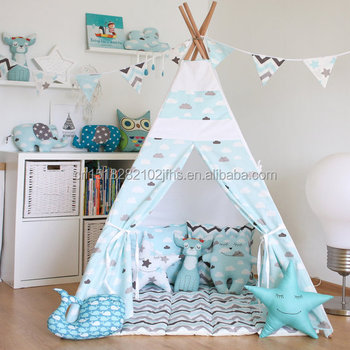 Kids Teepee Play Tent Children Teepee Canvas Indoor Play Teepee Indian Tent Outdoor Play Children Tent & Kids Teepee Play Tent Children Teepee Canvas Indoor Play Teepee ...