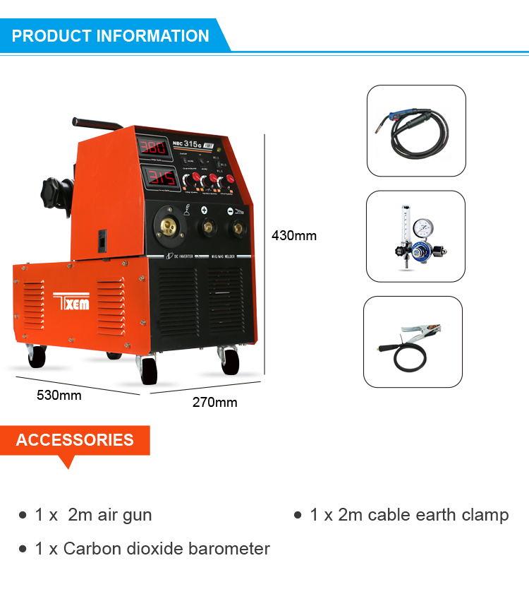 MIG mag CO2 inverter saldatore portatile inverter arc mma saldatore