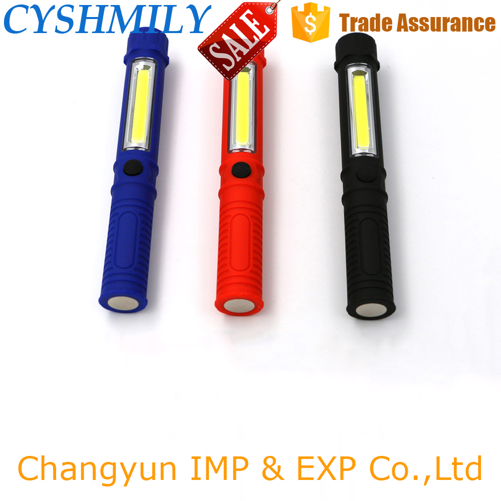 CYSHMILY Cheap Plastic Mini Torch High Quality Portable Cob Rechargeable Led Magnetic Work Light
