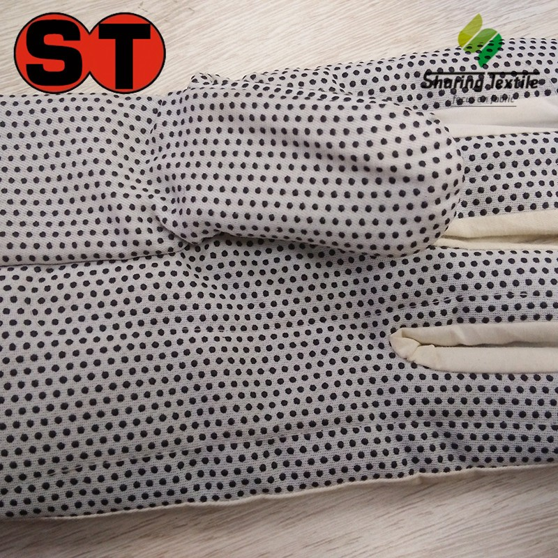 Wholesale Plastic Dripping Dot Glove Fabric/Pvc Dotted For Gloves/Non-Slip Dotted Fabric