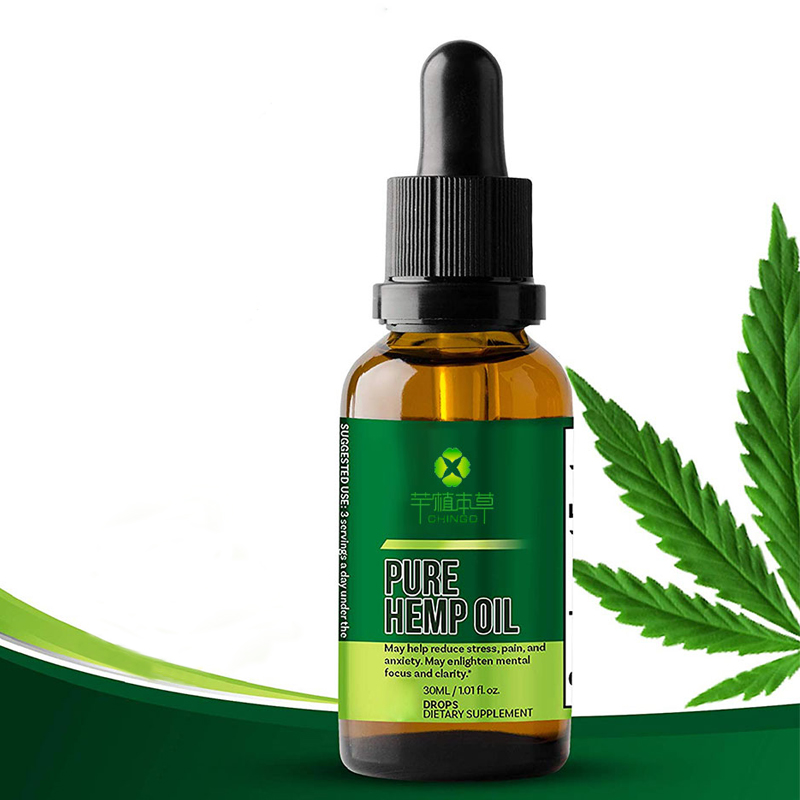 High quality private label edible essential oil pure cbd hemp oil for pain relief