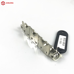 Short pitch roller chain with special attachment used to transfer cotton sticks conveying chains