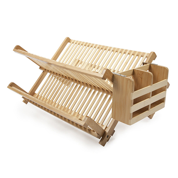 Factory Price Wooden Foldable Rack Plates Dish Holder
