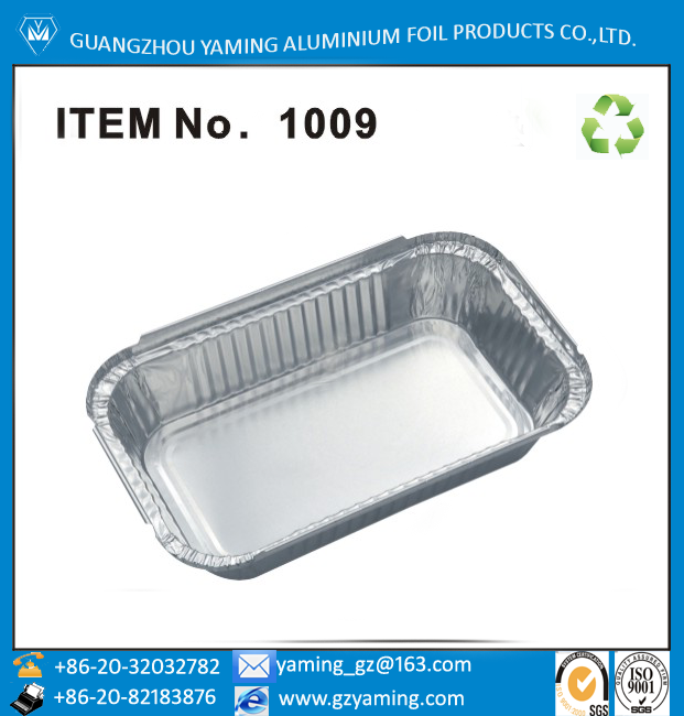 packaging boxes oblong food storage take away aluminium lunch box foil casserole 1009