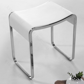 artificial stone bathroom stainless steel shower stools - Shower Stool