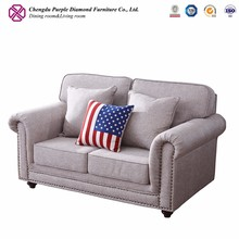 Sofa furniture living room upholstery fabric sofa 2 seater wooden sofa