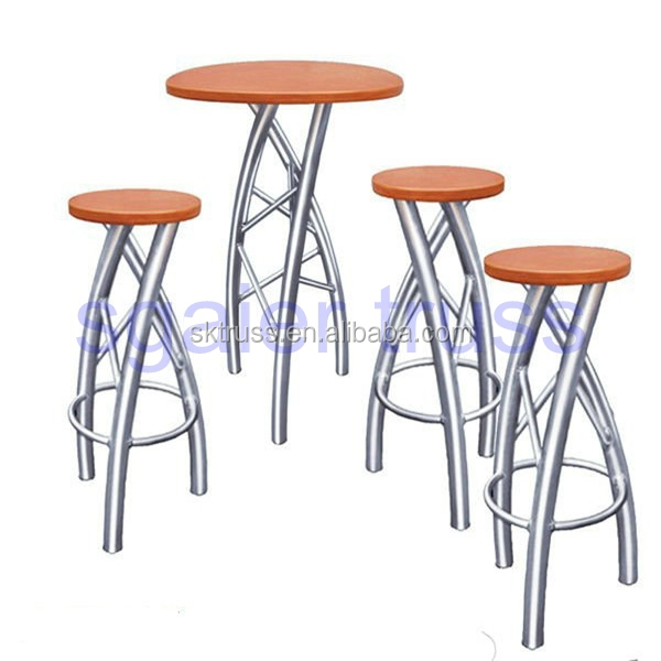 Durable truss table and chair,Truss bar stools and tables for night club