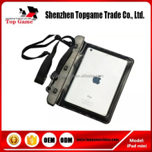 pvc waterproof bag pouch for iPad mini with sport neck strap case