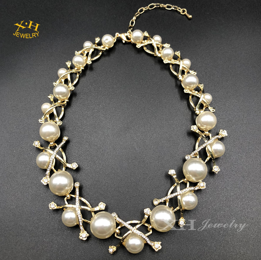 <strong>Fashion</strong> New Design Women's Pearl Necklace Statement Jewelry