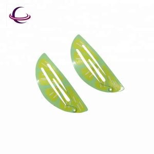 New Hair Clip Design Hair Accessories Metal Lemon Print Snap Clip Hair Clip For Baby Girls Kids