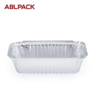 Regular Wrinkle Silver Disposable ABL Single Aluminum Foil Food Container